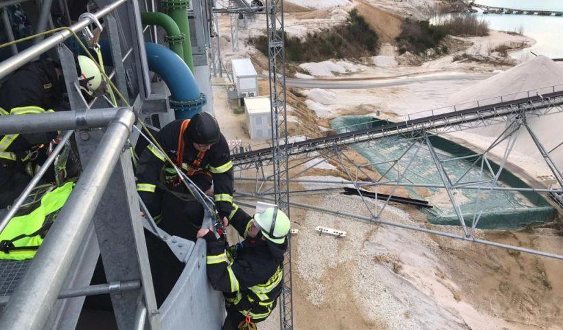 Absturzsicherung Feuerwehr Rettung Abseilgerät Sturz Kante IKB Akademie